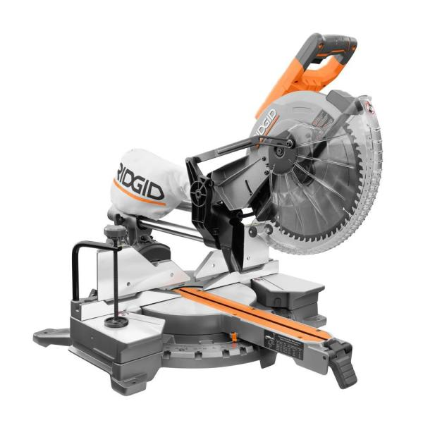 15 Amp Corded 12 in. Dual Bevel Sliding Miter Saw with 70 Deg. Miter Capacity and LED Cut Line Indicator