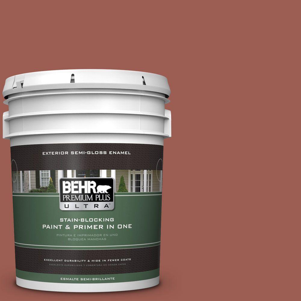 BEHR Premium Plus Ultra 5-gal. #S160-6 Red Potato Semi-Gloss Enamel Exterior Paint