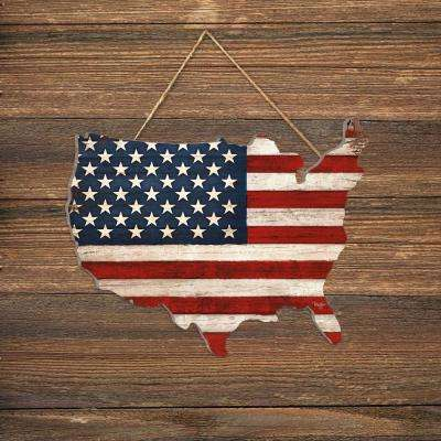 """Old Glory"" by Mollie B Wood Wall Art"
