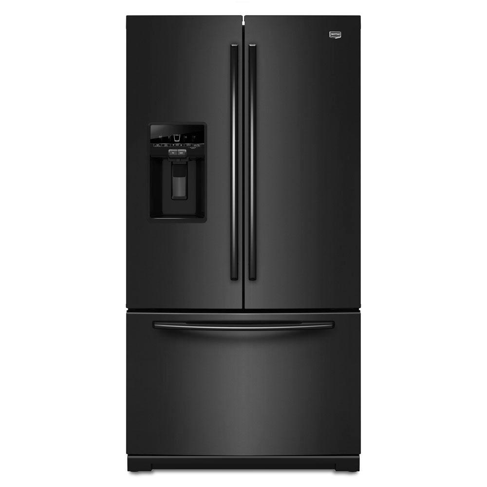 Maytag Ice2O 28.6 cu. ft. French Door Refrigerator in Black-DISCONTINUED