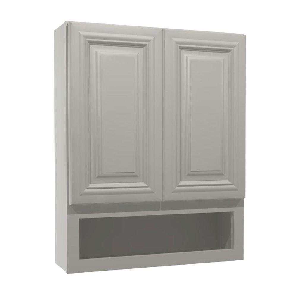 Coventry Assembled 24x30x7 in. Boutique Wall Vanity Cabinet in Pacific White