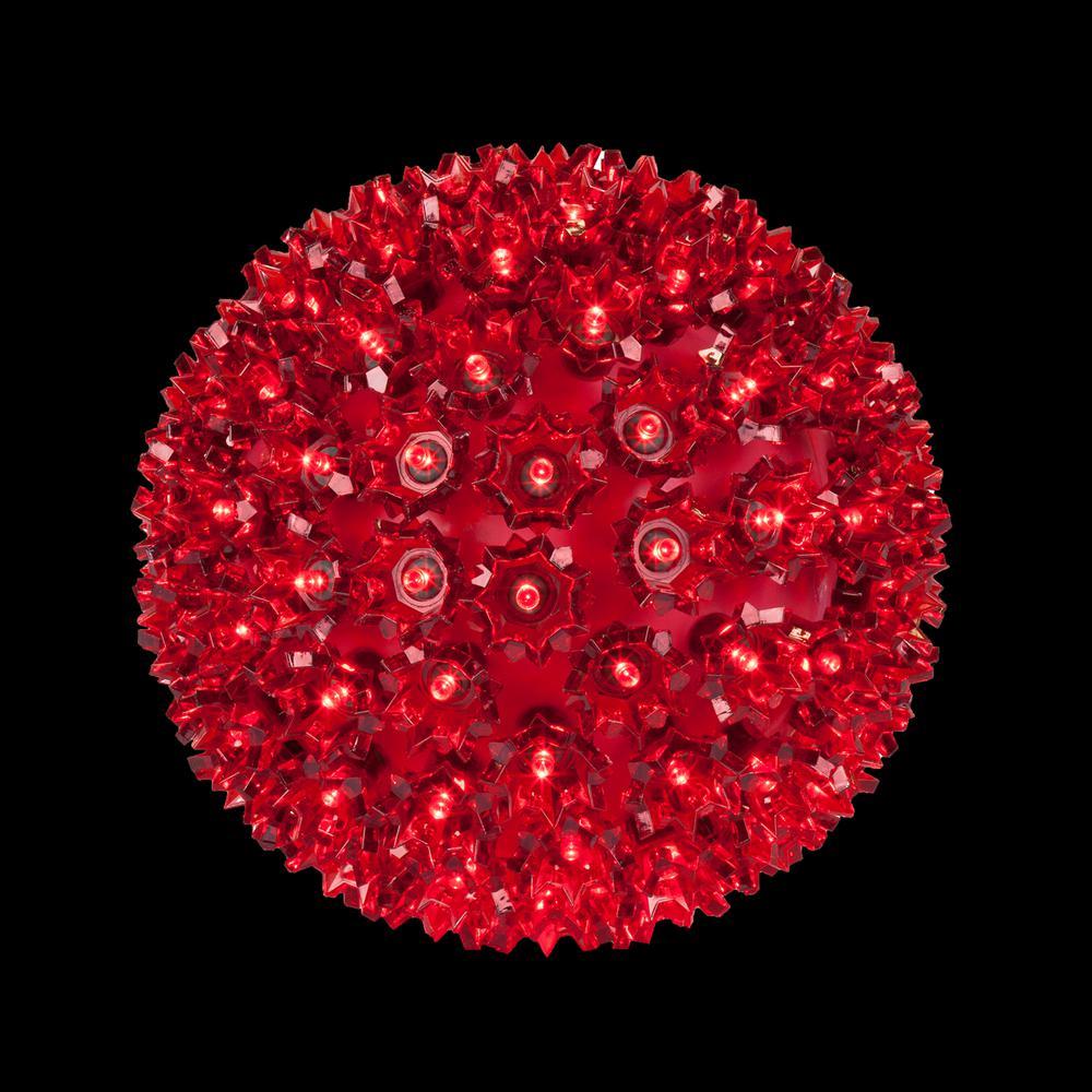 6 in. 70-Light LED Red Decorative Starlight Sphere