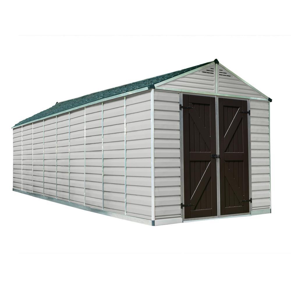 Palram SkyLight 8 ft. x 20 ft. Tan Storage Shed