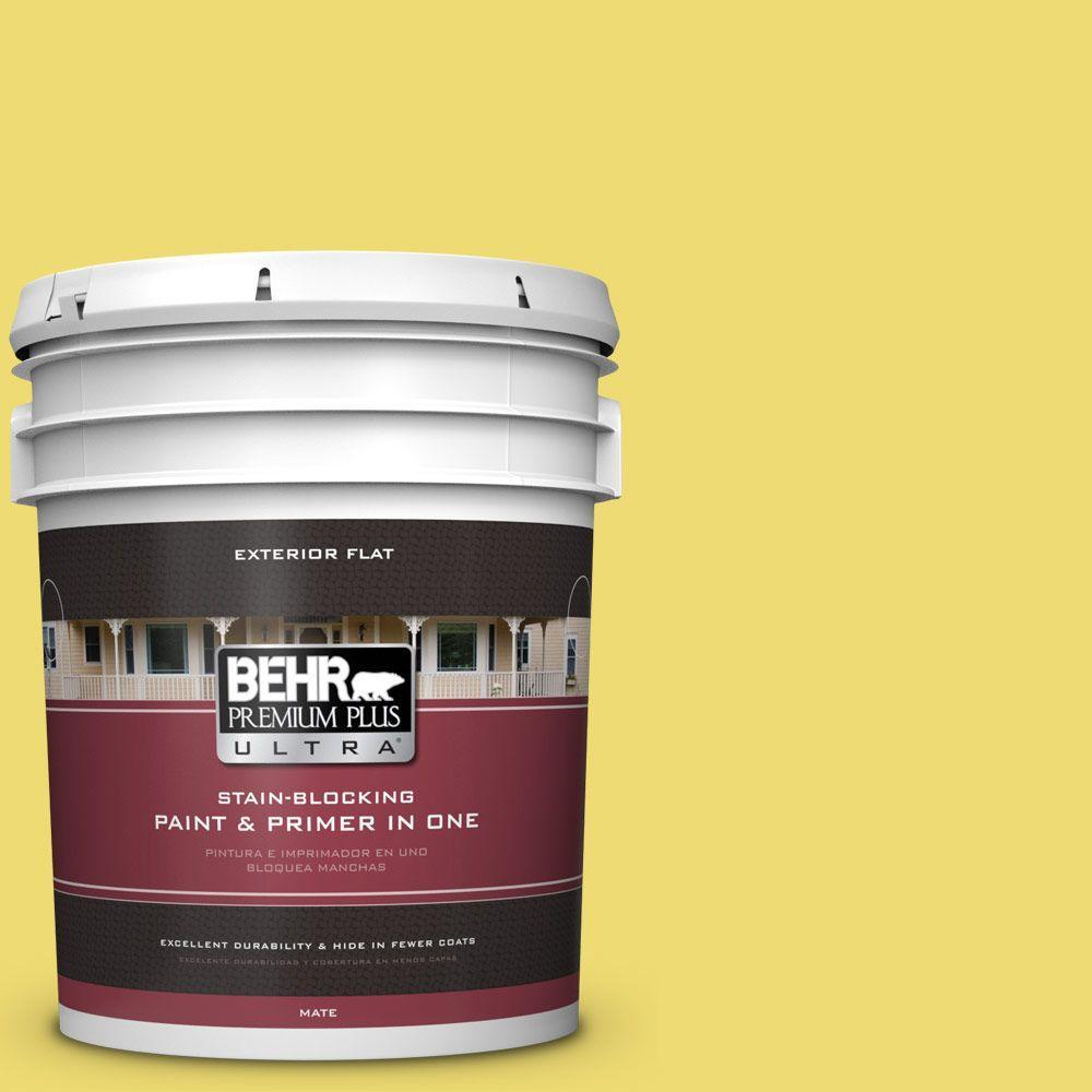 BEHR Premium Plus Ultra 5-gal. #T15-15 Plastic Lime Flat Exterior Paint
