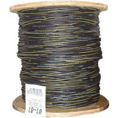 1,000 ft. 6/3 Black Stranded AL Erskine URD Cable
