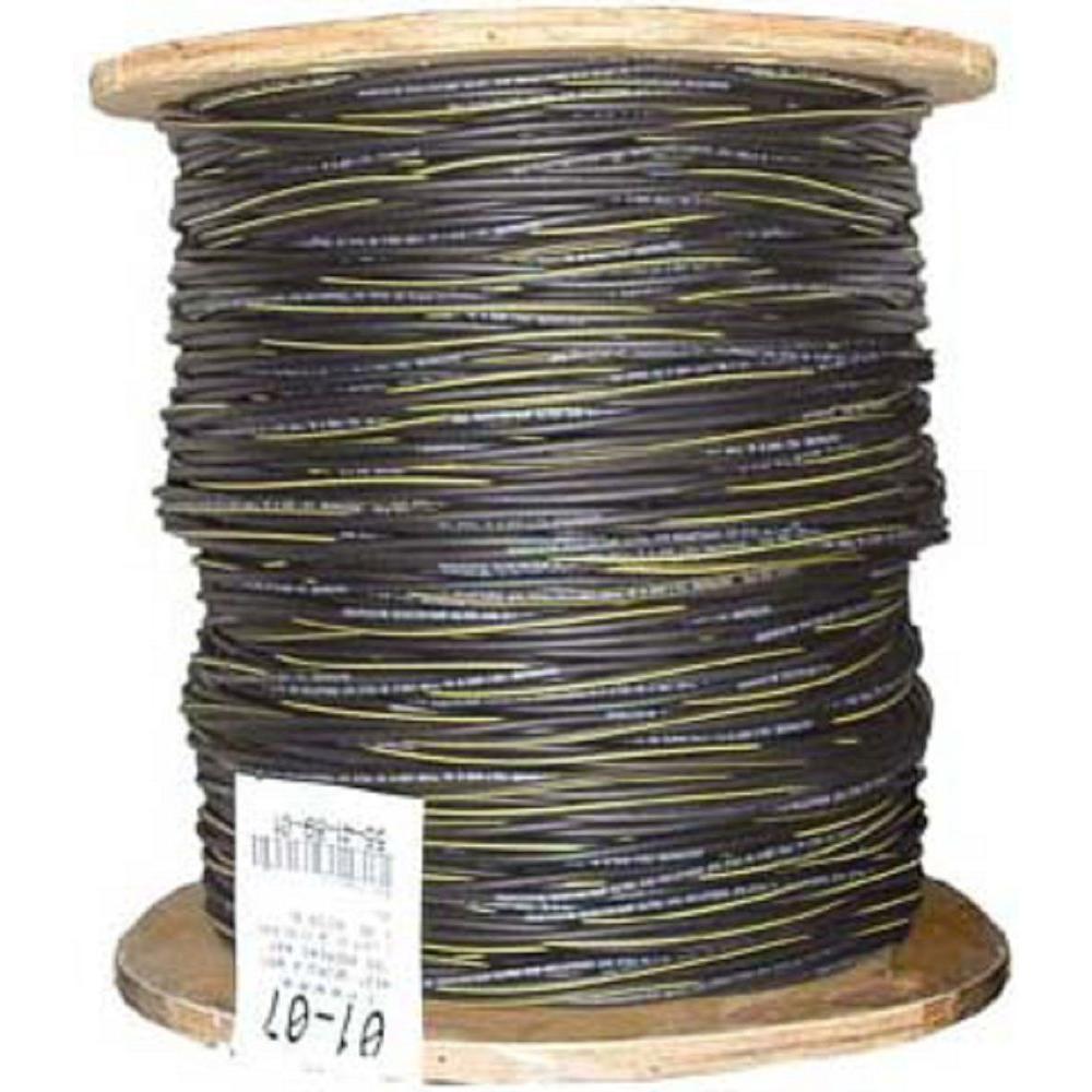 1,000 ft. 6/3 Black Stranded AL Erskine URD Cable