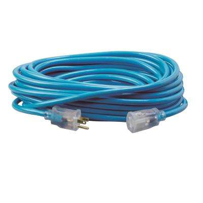 50 ft. 12/3 SJTW Neon Blue Extension Cord