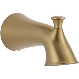 Lahara Pull-Up Diverter Tub Spout in Champagne Bronze