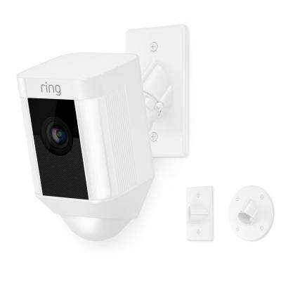 Spotlight Cam Mount Outdoor Smart Surveillance Camera, White