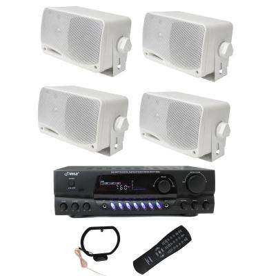 Four 200-Watt Outdoor Speakers Plus PT260A 200-Watt Stereo Theater Receiver