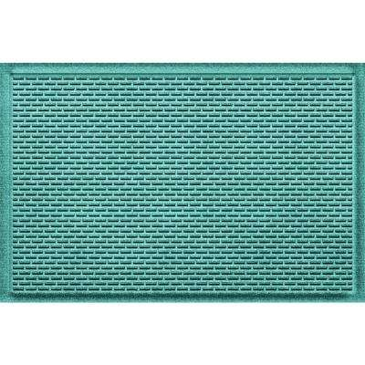 Cunningham Aquamarine 24 in. x 36 in. Polypropylene Door Mat