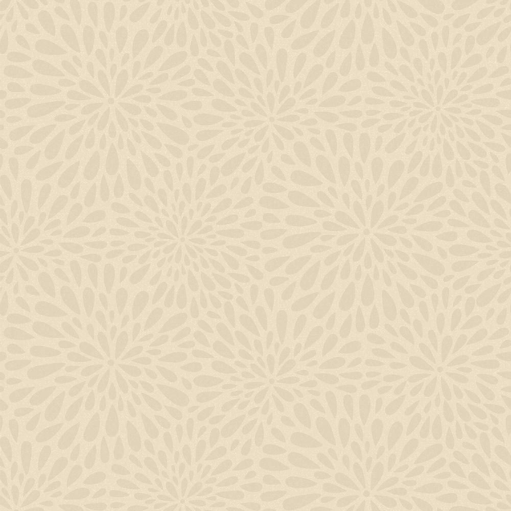 Calendula Grey Modern Floral Wallpaper Sample