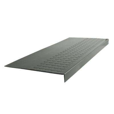 Vantage Circular Profile Charcoal 12.06 In. X 48 In. Rubber Square Nose Stair  Tread