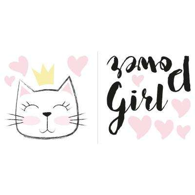 Pink Girl Power Wall Quote Decal