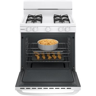 30 in. 4.8 cu. ft. Gas Range Oven in White