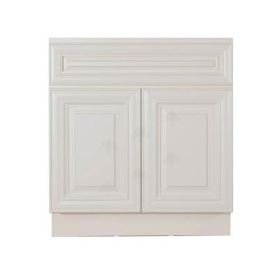 Princeton Assembled 24 in. W x 21 in. D x 33 in. H Bath Vanity Cabinet with 2-Doors Off-White