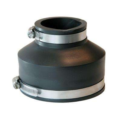 4 in. x 2 in. DWV Flexible PVC Coupling
