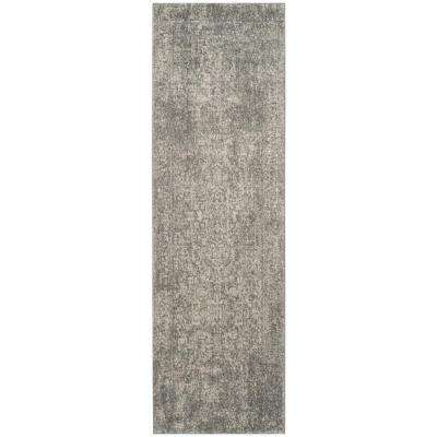 Evoke Silver/Ivory 2 ft. 2 in. x 19 ft. Runner Rug