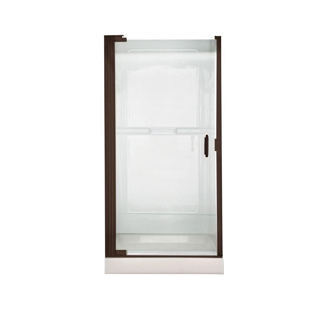 Euro 25.4 in. x 65.5 in. Semi-Framed Continuous Hinged Pivot Shower