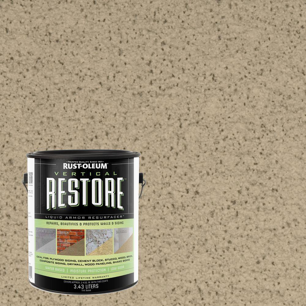 Rust-Oleum Restore 1-gal. Driftwood Vertical Liquid Armor Resurfacer for Walls and Siding
