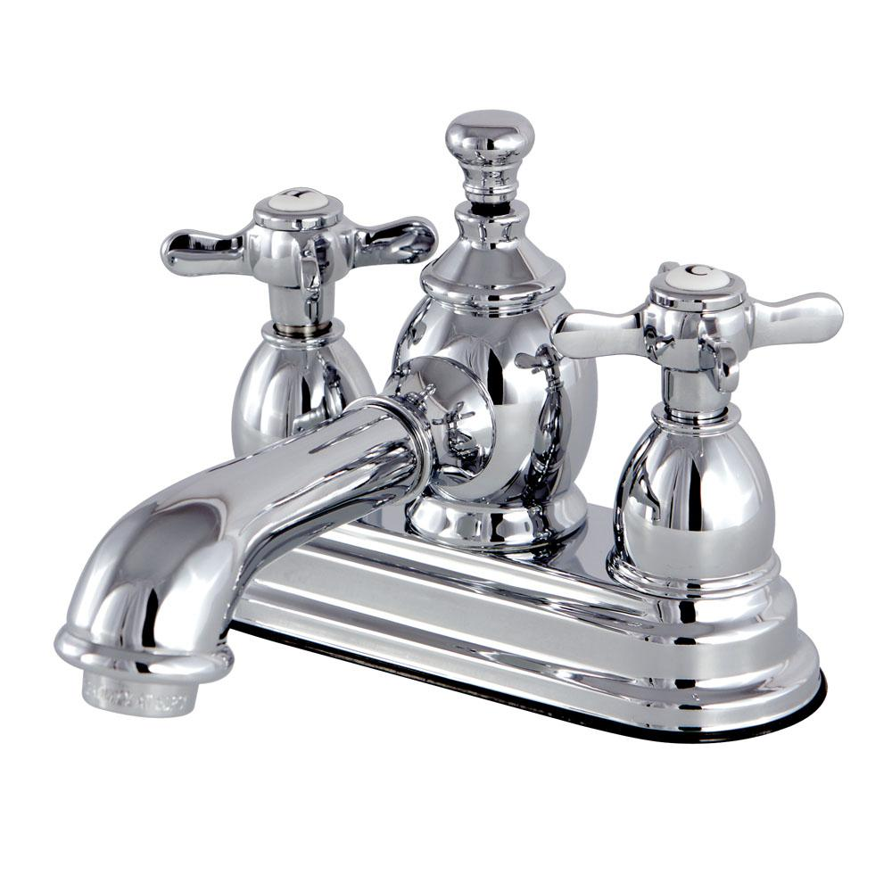 Vintage Cross 4 in. Centerset 2-Handle Mid-Arc Bathroom Faucet in Chrome