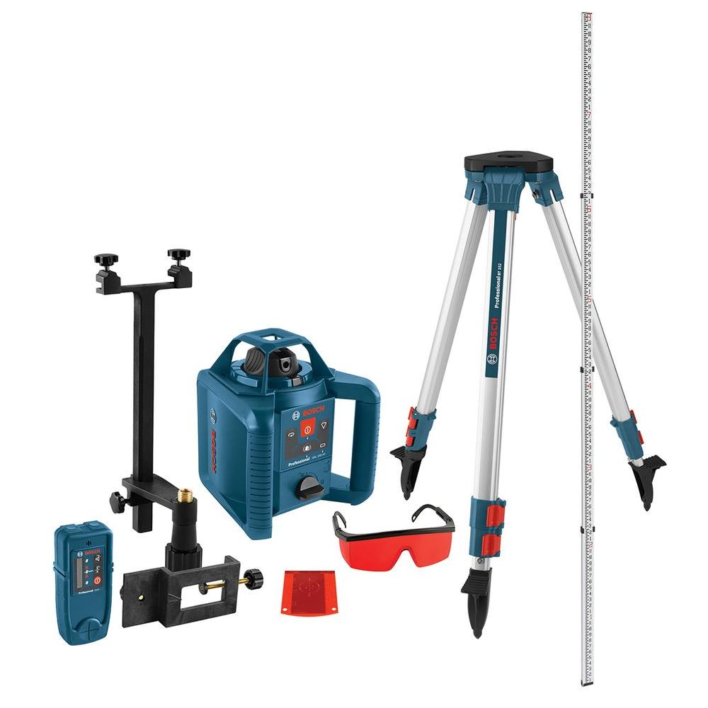 he Bosch GRL HVCK Self-Leveling Rotary Laser offers hori.