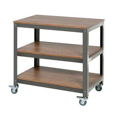 Wood Surface Loft Companion Shelf with Steel Frame