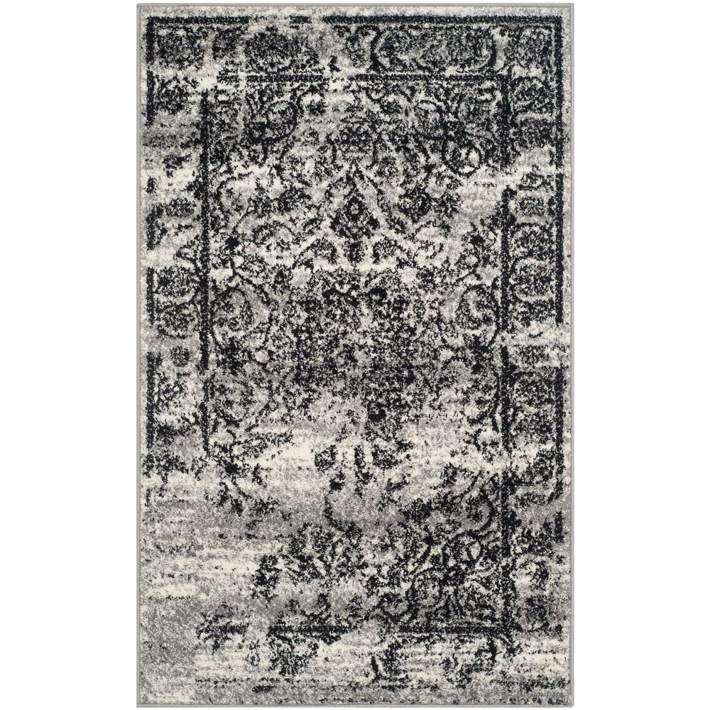Safavieh Adirondack Silver Black 3 Ft X 5 Ft Area Rug Adr101a 3
