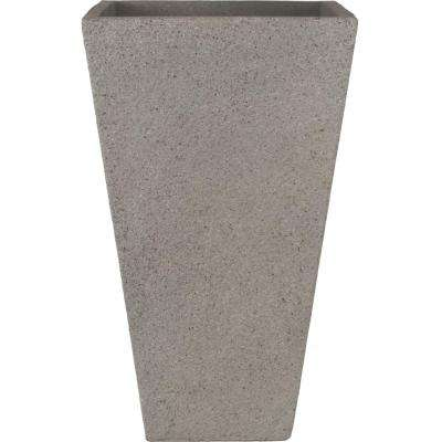 Origins Terrazzo 13 in. Light Gray Tall Square Planter