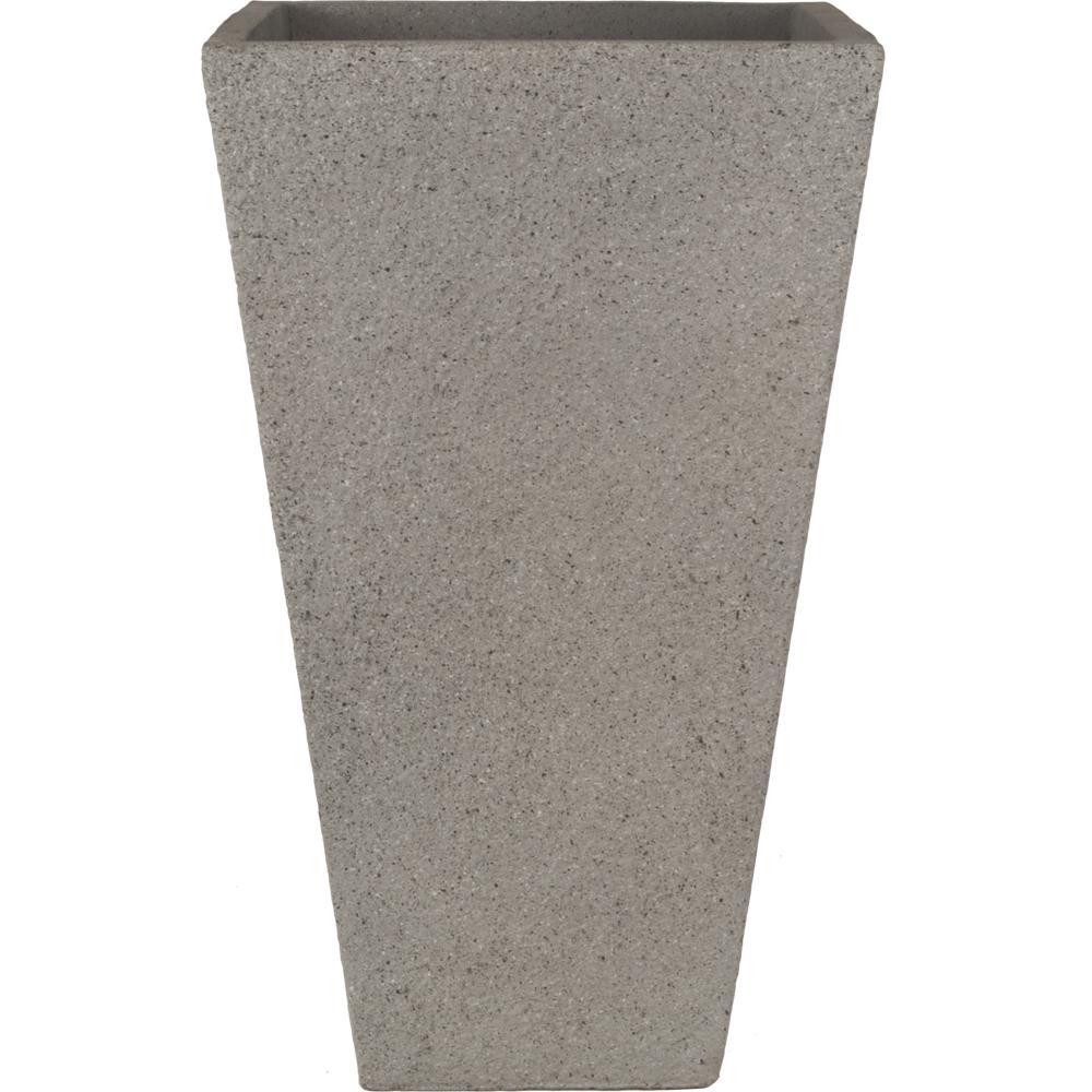 tall vase lighting garden. pride garden products origins terrazzo 13 in. light gray tall square planter vase lighting
