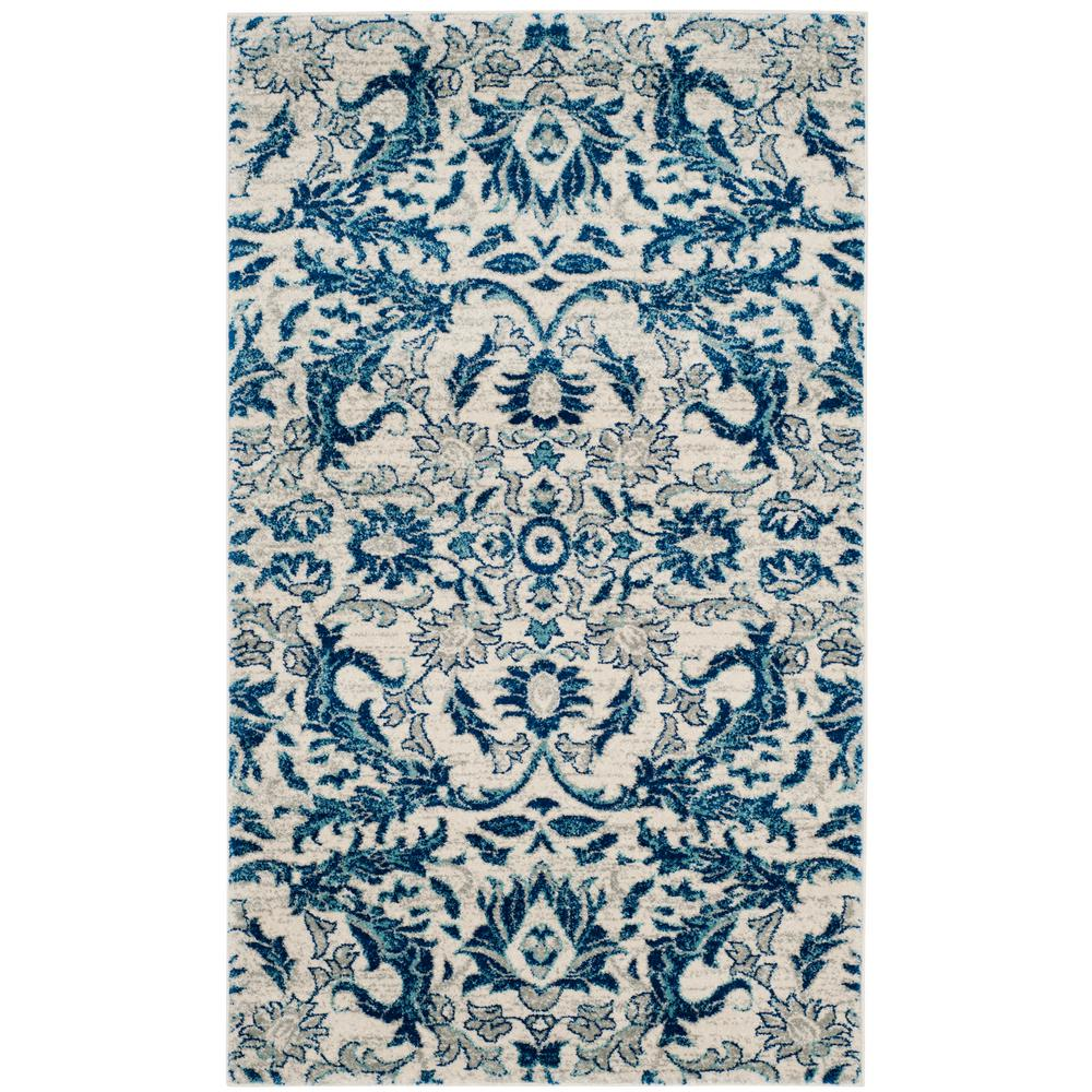 Evoke Ivory/Blue 4 ft. x 6 ft. Area Rug