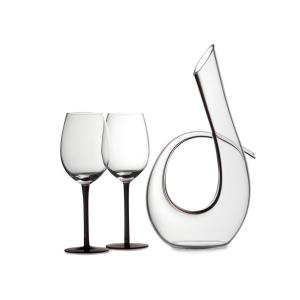 Click here to buy Maxwell & Williams Sensations 620 ml Decanter and Wine Glass in Black (Set of 3) by Maxwell & Williams.