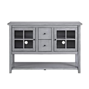 Walker edison furniture company 52 in antique grey wood for Spl table 98 99