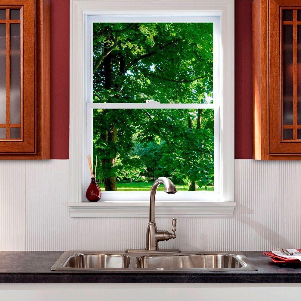 24 in. x 18 in. Rib PVC Decorative Backsplash Panel in Gloss White