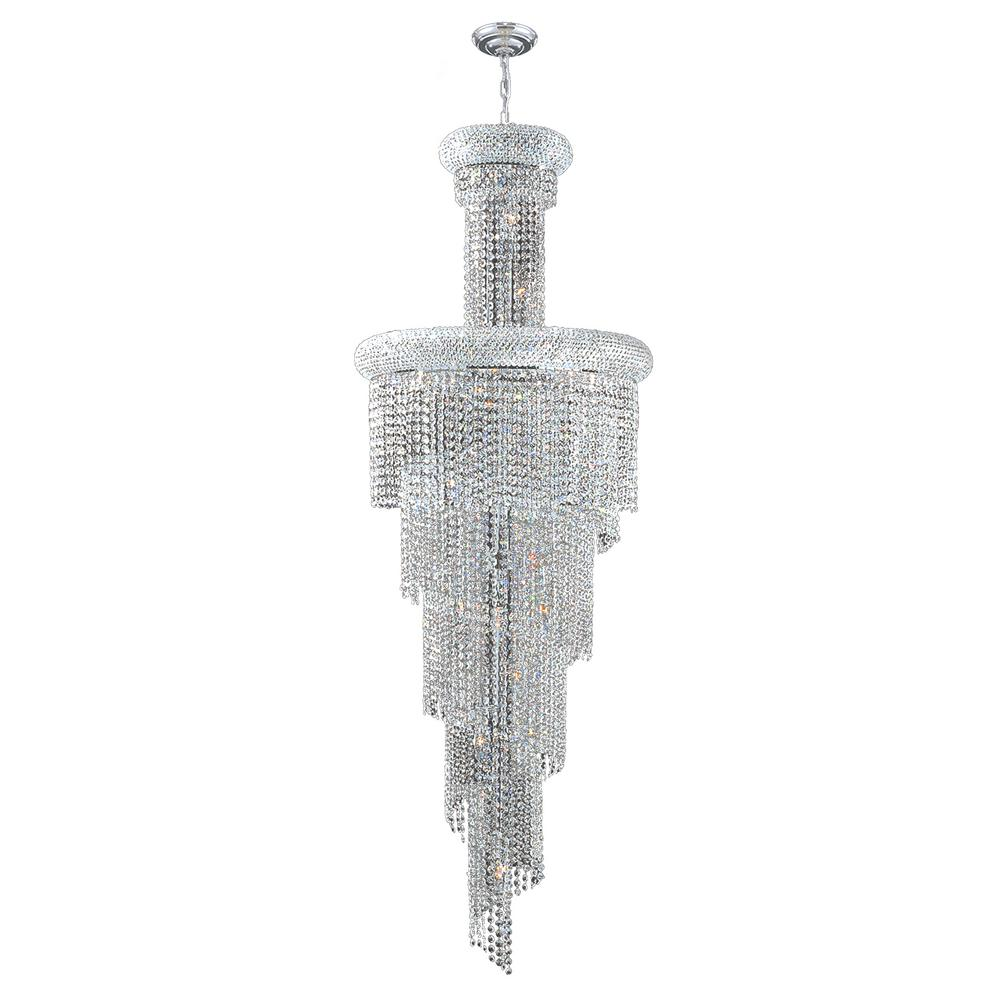 Worldwide Lighting Empire Collection 22-Light Chrome Chandelier with Clear Crystal