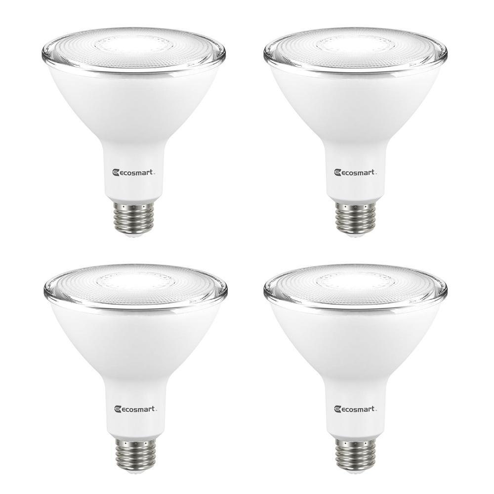 HomeDepot.com deals on 4-Pck EcoSmart 90-Watt Equivalent PAR38 Flood LED Light Bulb