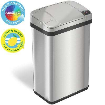 4 Gal. Stainless Steel Touchless Automatic Sensor Trash Can with Odor Filter and Fragrance