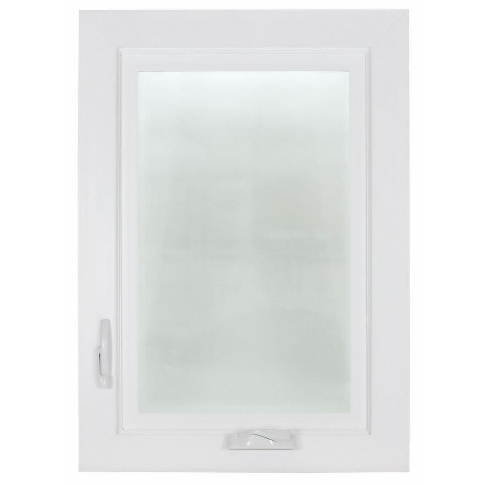 HR Windows 2650 Acoustical Left-Hand Casement Vinyl Windows, 30 in. x 60 in. LowE Triple Glazed Glass and Screen-DISCONTINUED