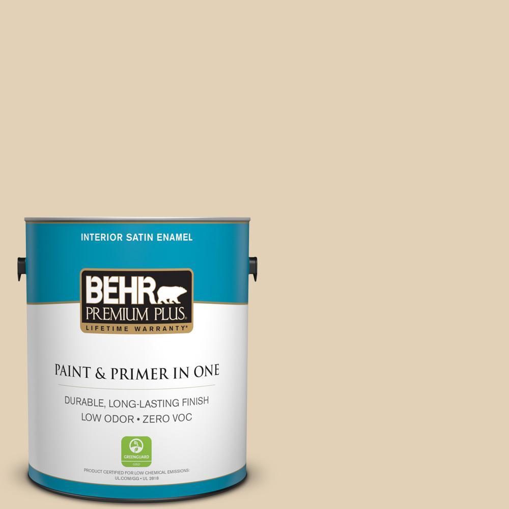 1-gal. #N290-3 Comfy Beige Satin Enamel Interior Paint