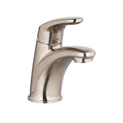 Colony Pro Single Hole Single-Handle Bathroom Faucet with 50/50 Pop-Up Drain in Brushed Nickel