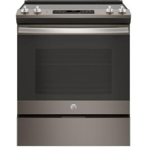 30 in. 5.3 cu .ft. Slide-In Electric Range with Self-Cleaning Oven in Slate, Fingerprint Resistant