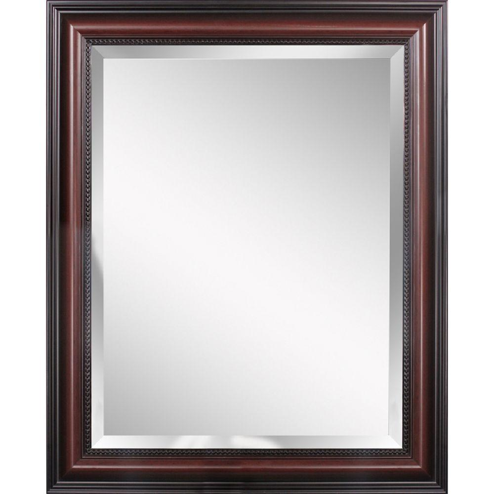 Deco Mirror Traditional 28 in. x 34 in. Mirror in Cherry