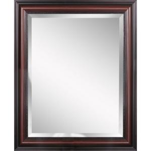 Deco Mirror Traditional 28 inch x 34 inch Mirror in Cherry by Deco Mirror