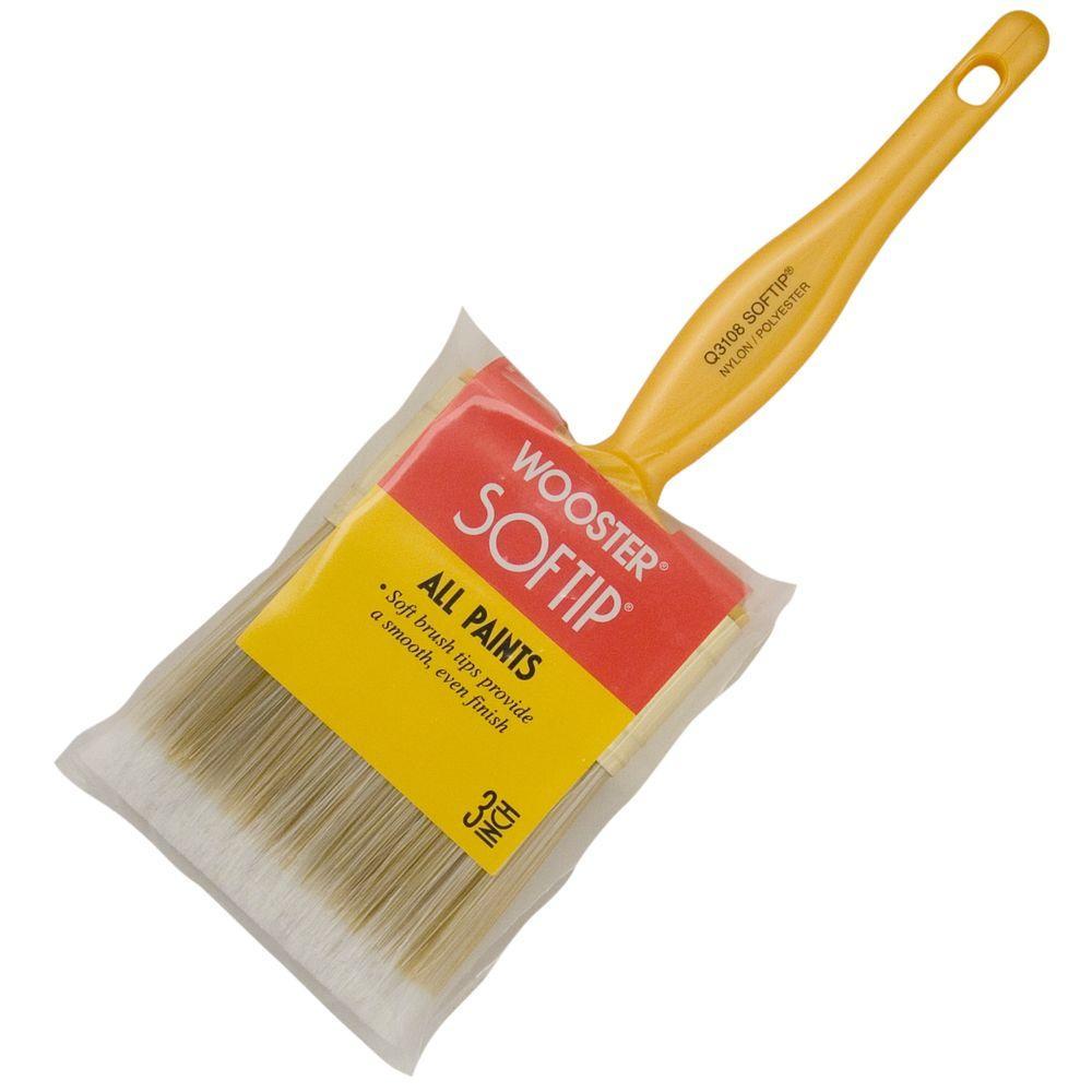 Softip 3 in. Flat Brush