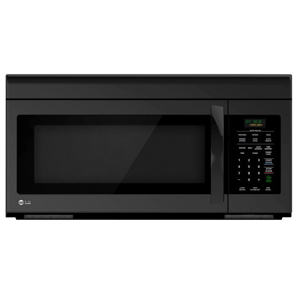 LG Electronics 1.6 cu. ft. Over the Range Microwave Oven in Smooth Black