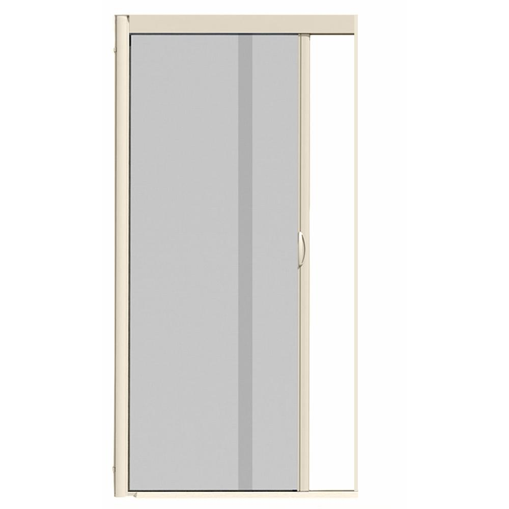 44 in. x 100 in. VS1 Almond Retractable Screen Door, Single