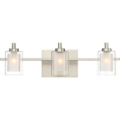 Kolt 3-Light Brushed Nickel Vanity Light