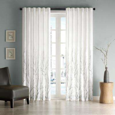 Eliza White 50 in. x 84 in. Window Curtain