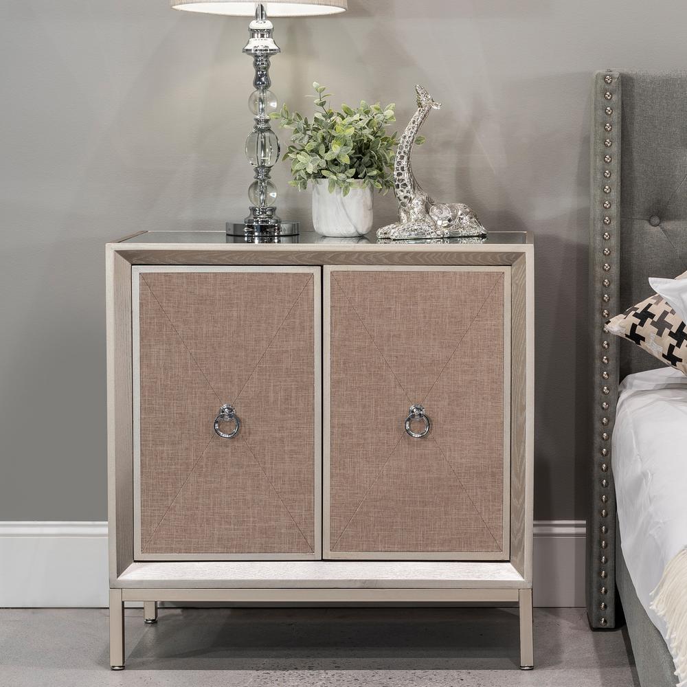 Home Source Riley Luxe Wooden Two Door Cabinet