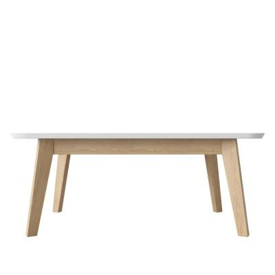 Scarlett 42 in. Natural/White Large Rectangle Wood Coffee Table